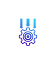 integration system icon on white vector image vector image