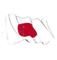 Japan Flag Grunge vector image vector image