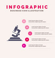 lab microscope science zoom infographics vector image vector image
