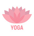 lotus flat icon fitness and sport yoga sign vector image vector image