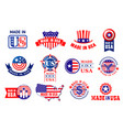 made in usa quality product tags vector image vector image