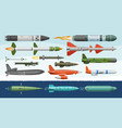 missile military missilery rocket weapon vector image