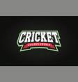 modern professional typography cricket sport vector image vector image