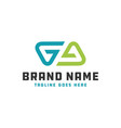 monogram logo letter initials ga vector image vector image