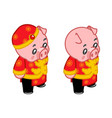 new year piggie birthday traditional kid wear vector image vector image