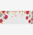 party balloons confetti and ribbons flag ribbons vector image vector image