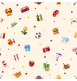 pattern flat design barbecue summer picnic vector image