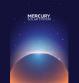 Poster planet mercury and solar system space