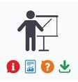 Presentation billboard sign icon vector image vector image