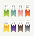 progress banners with ribbon colorful tags vector image