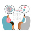 psychotherapy concept vector image vector image