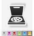 realistic design element pizza vector image