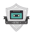 Recorder cassette retro label design vector image vector image