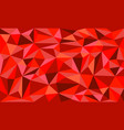 red rulow poly art graphic background vector image