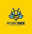robotic bee logo symbol design vector image