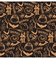 seamless pattern with sketch Halloween vector image