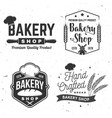 set bakery shop badge concept for badge vector image vector image