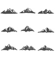 Set of Mountain Icons vector image vector image
