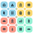 set simple construction vector image vector image