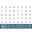 set travel tourism and holiday elements icons vector image