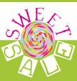 sweet sale6 vector image vector image