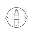 thin line recycle plastic bottle icon vector image