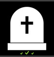 tomb stone it is white icon vector image