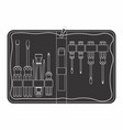 tool kit maintenance black fill vector image vector image