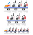 trailers for roller coasters vector image