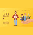 unemployed man searching for job work recruitment vector image