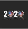 usa presidential election logo number 2020 vector image vector image