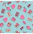 valentines day colored pattern vector image