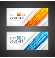 Voucher template abstract waves design vector image