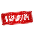 Washington red stamp isolated on white background vector image vector image