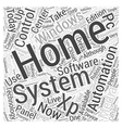 windows xp home automation Word Cloud Concept vector image vector image