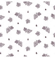winery seamless pattern with grape icon vector image