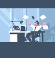 happy businessman about successful business dea vector image