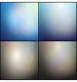 Set of Elegant abstract blue and gray backgrounds vector image
