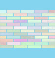 a wall of blocks in pastel colors vector image vector image