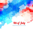 abstract american independence day background vector image