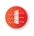 ac filter red flat design long shadow glyph icon