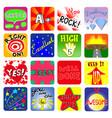 Achievement school labels set of 16 vector image