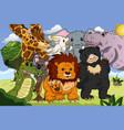 animal kingdom poster vector image vector image
