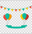 balloons with celebrate flags vector image vector image