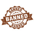 banned stamp sign seal