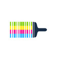 barcode paint logo icon design vector image