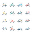 bikes flat icons vector image