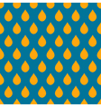 Blue Orange Water Drops Background vector image vector image