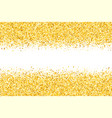 border with shimmer stars golden frame vector image vector image