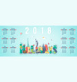 calendar for 2018 with famous world landmarks vector image